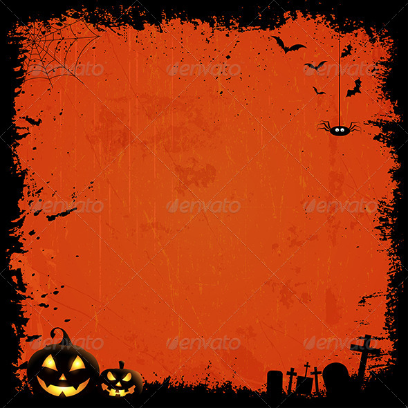 GraphicRiver Grunge Halloween Background 5860740