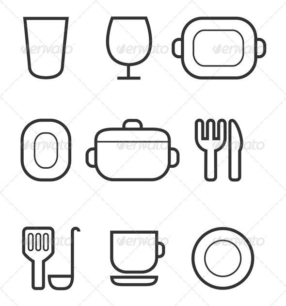 GraphicRiver Kitchen Icon Set 5860911 Created: 15