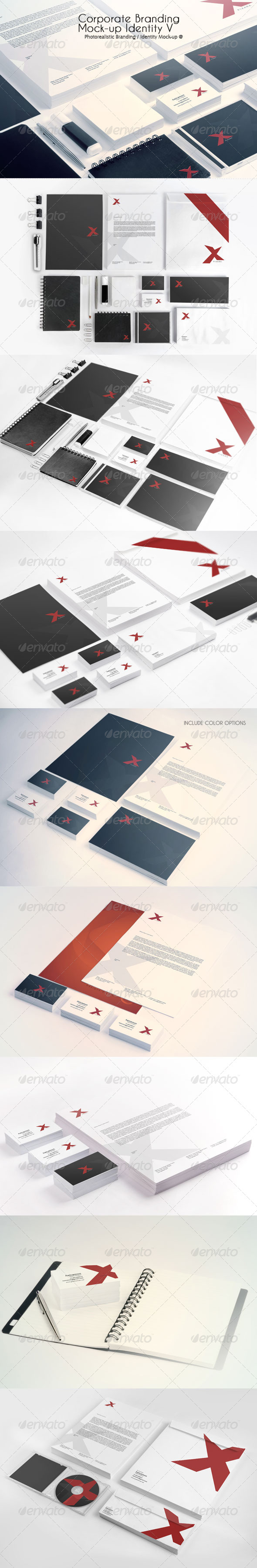 Corporate Branding Mock-up Identity V - Product Mock-Ups Graphics