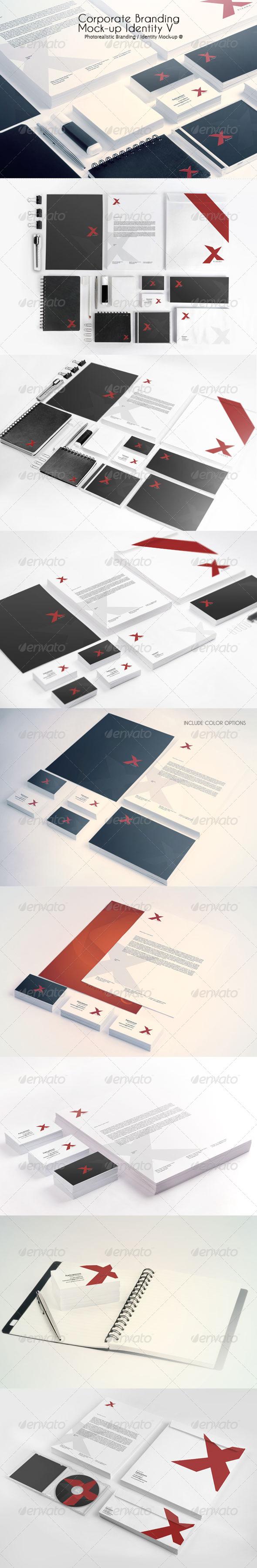 Corporate Branding Mock-up Identity V - Product Mock-Ups Graphics