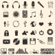 Vector Set of 46 Music Icons - GraphicRiver Item for Sale