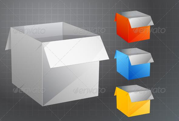 GraphicRiver Open Box Icon 5861065