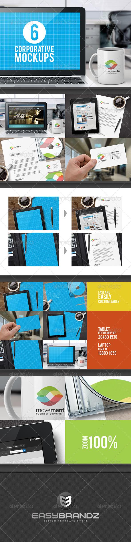 GraphicRiver Corporative Mockups Vol.01 5810997