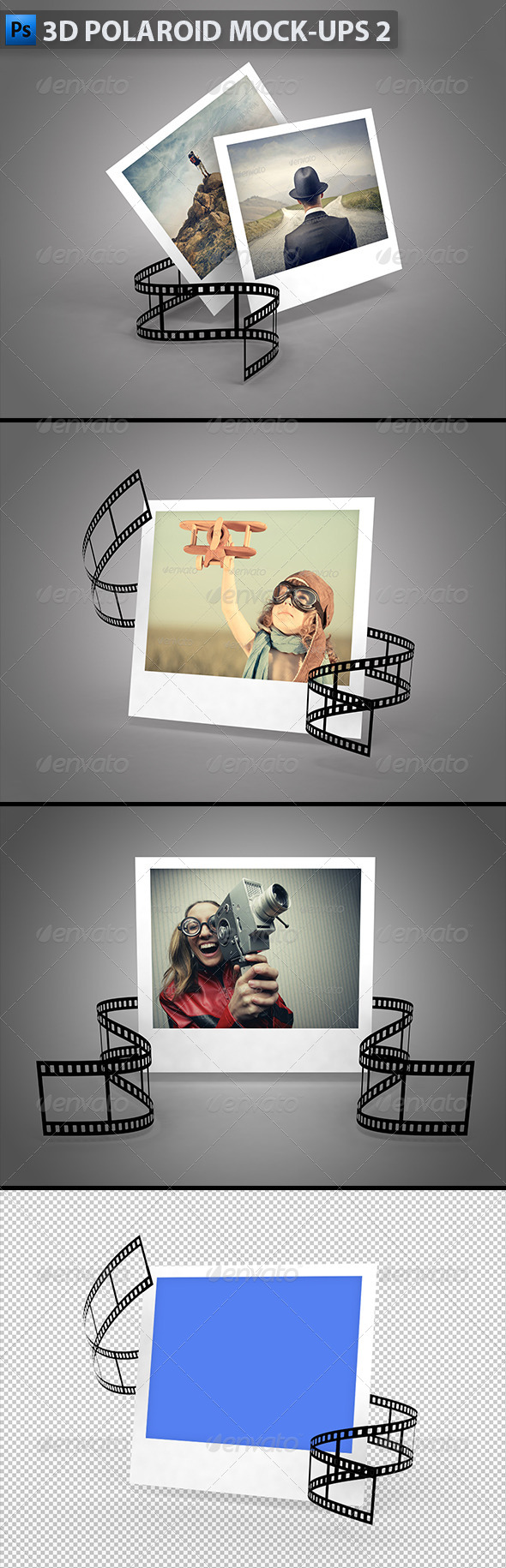 GraphicRiver 3D Polaroid Mock-Ups 2 5861112