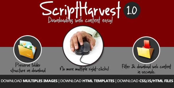 CodeCanyon Script Harvest Web Content Downloader 5861119
