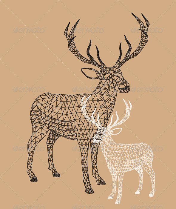 GraphicRiver Christmas Reindeer with Geometric Pattern 5861264