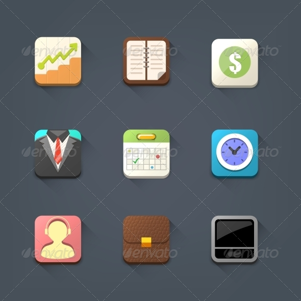 GraphicRiver Business Icon Set 5861282
