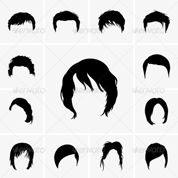 GraphicRiver Hair Styles 5861358