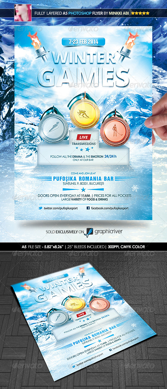 winter games poster  flyer
