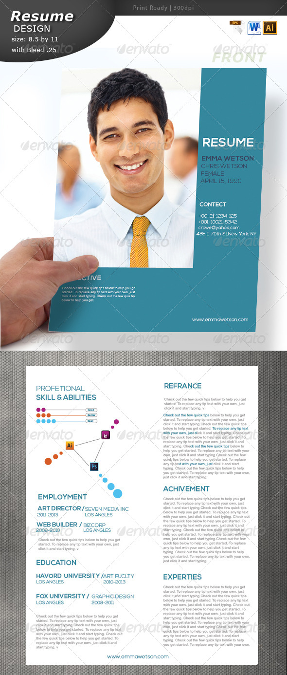 GraphicRiver Resume Design 5789809