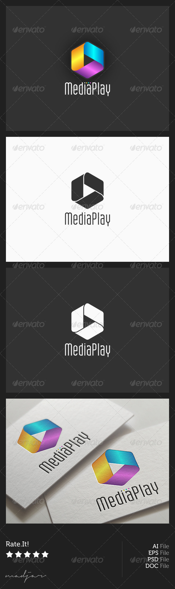 Media Play Logo - Symbols Logo Templates