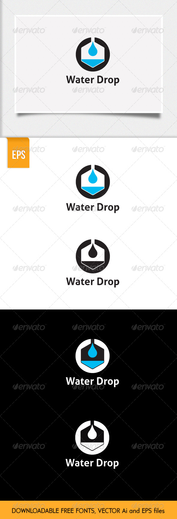 GraphicRiver Water Drop Logo 5824956