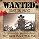 "Wild West Style ""WANTED"" Flyer or Poster"