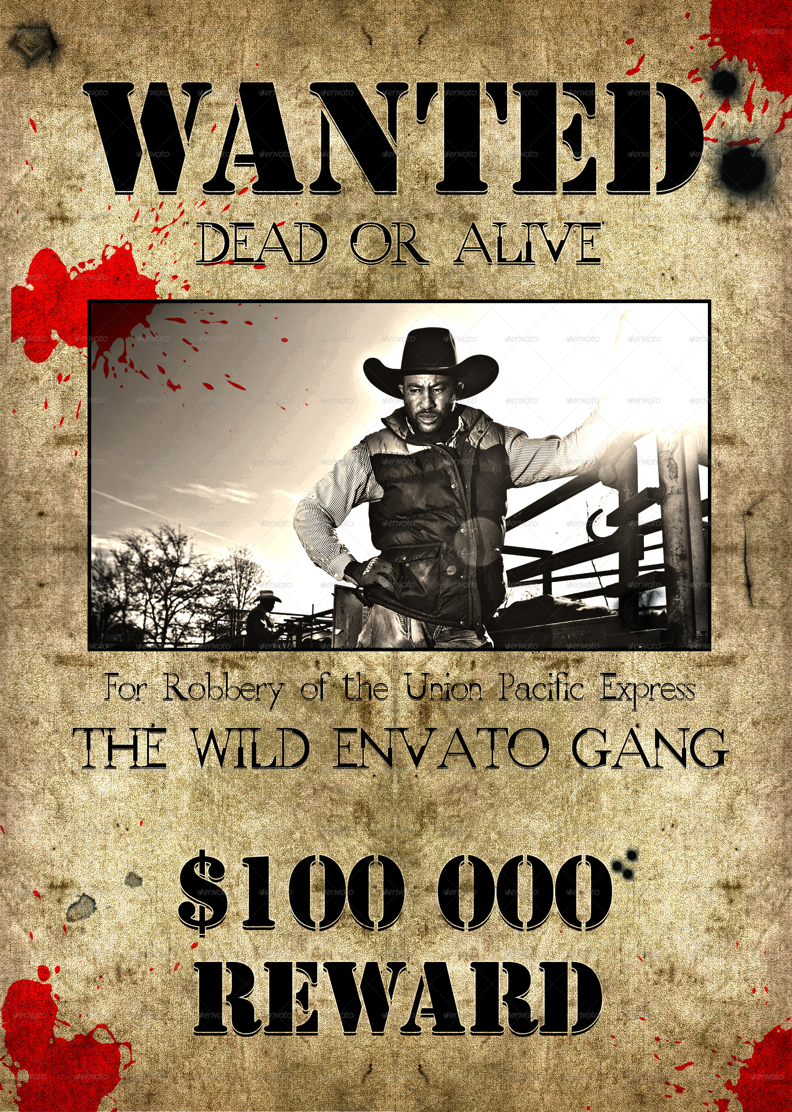 wild west style  u0026quot wanted u0026quot  flyer or poster by tzochko