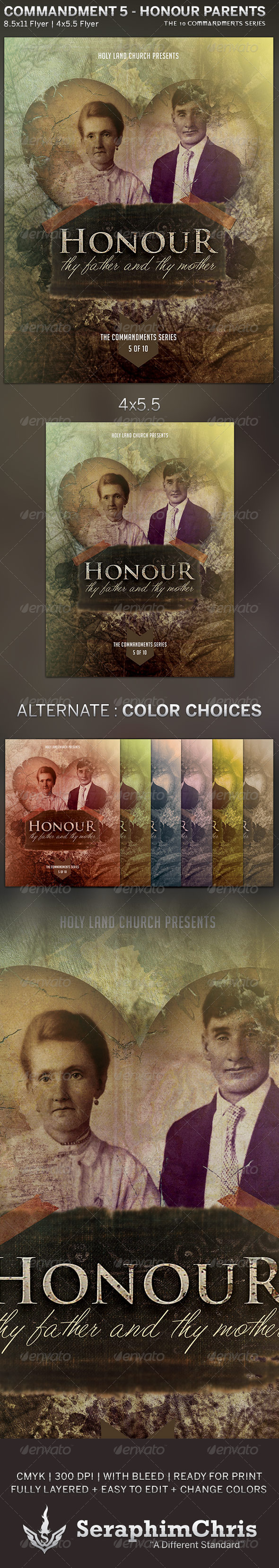 GraphicRiver Honour Father and Mother Church Flyer Template 5818903
