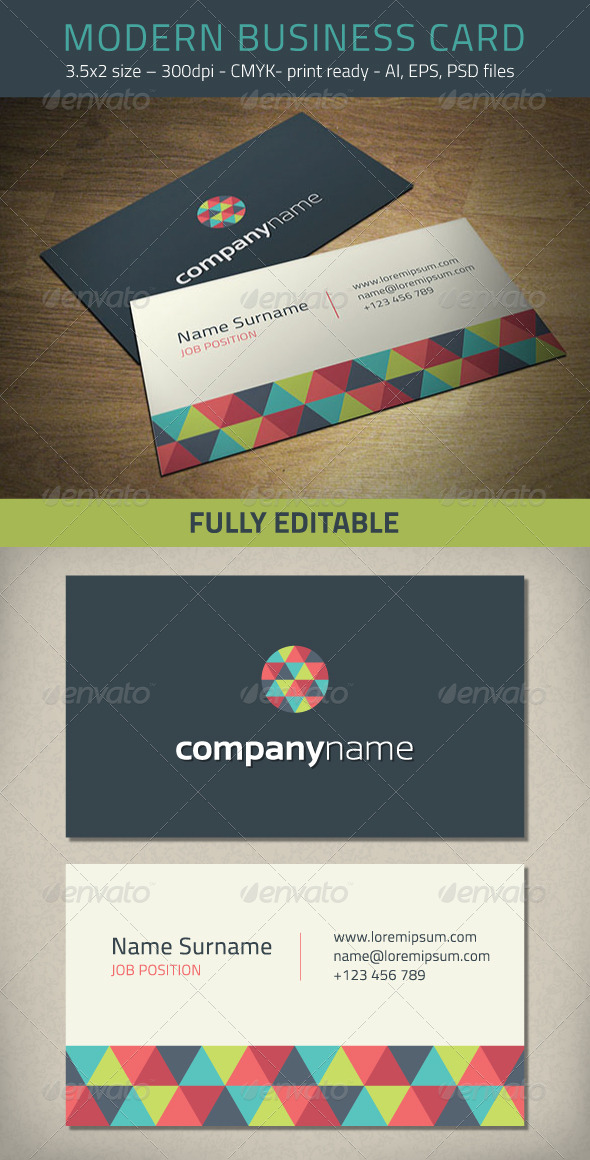 GraphicRiver Modern Business Card Template 5823160