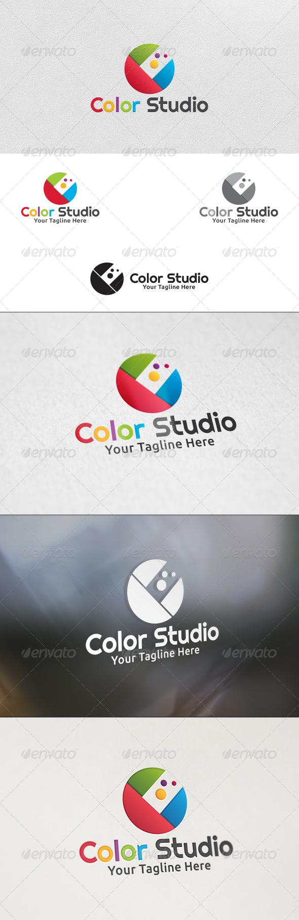 GraphicRiver Colors Studio Logo Template 5862398