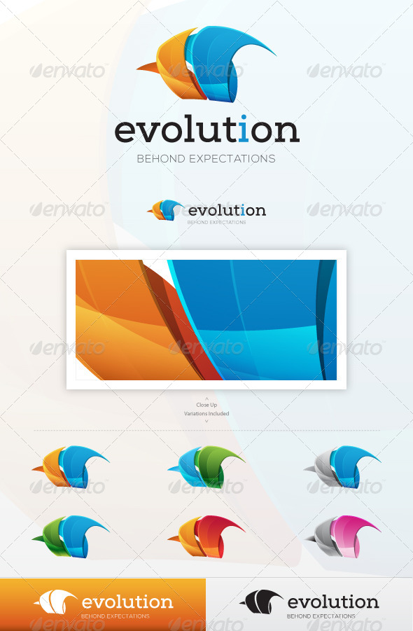 Evolution Logo - Vector Abstract