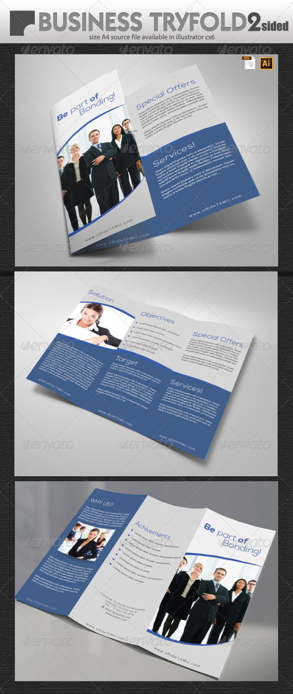 GraphicRiver Business Tri-Fold Double Sided 5862614