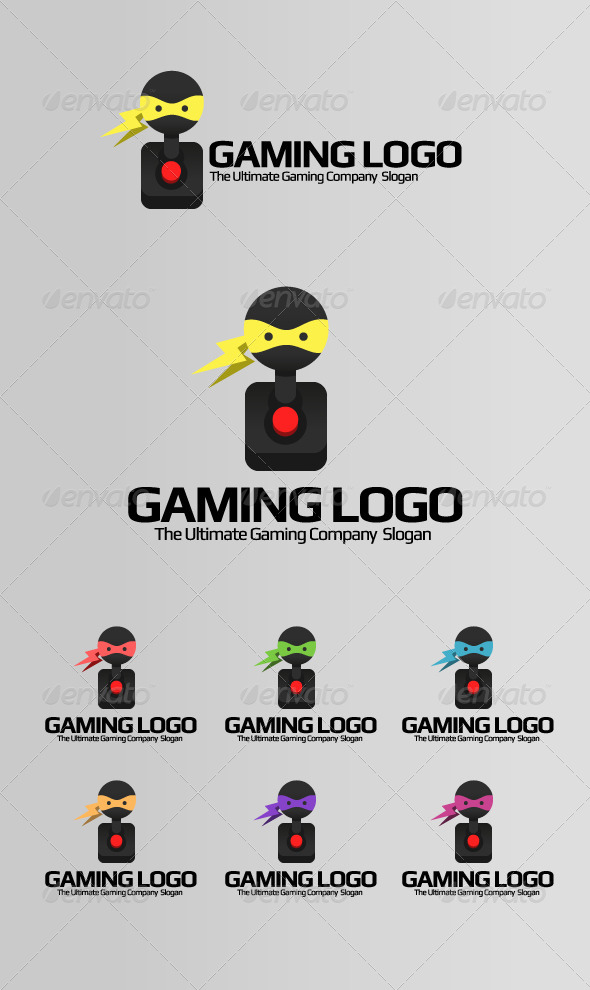 Gaming Logo - Ninja Games - Vector Abstract