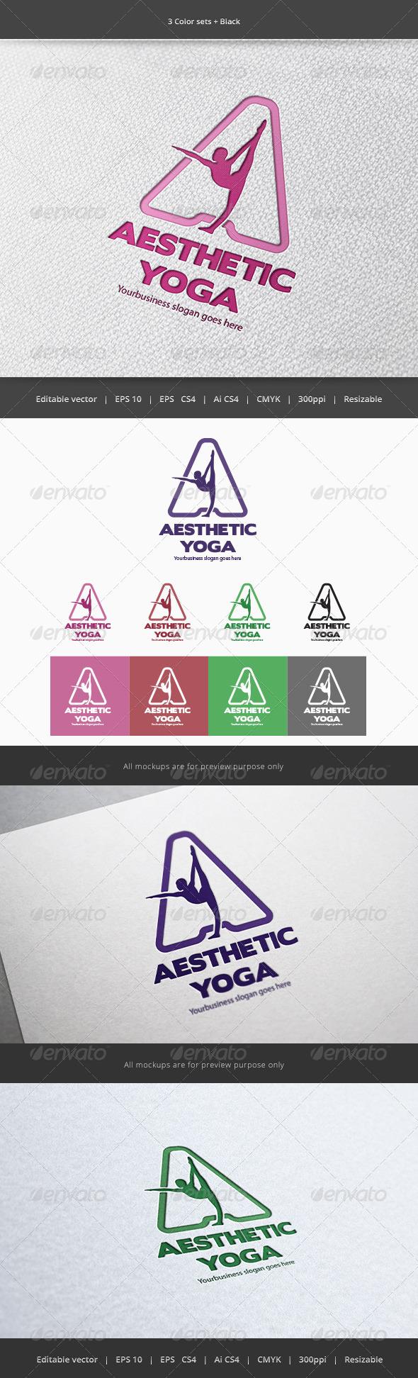 GraphicRiver Yoga A Letter Logo 5862686