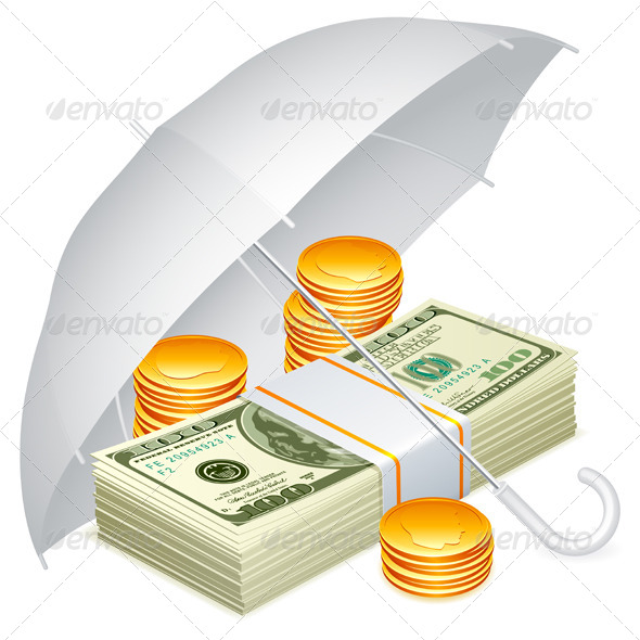 Umbrella and Money - Concepts Business