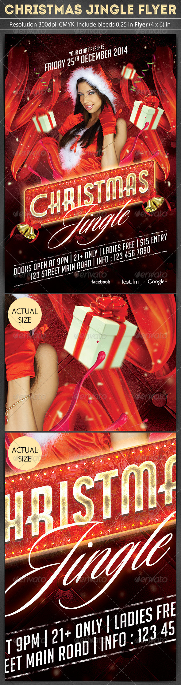 Christmas Jingle Flyer Template - Clubs & Parties Events