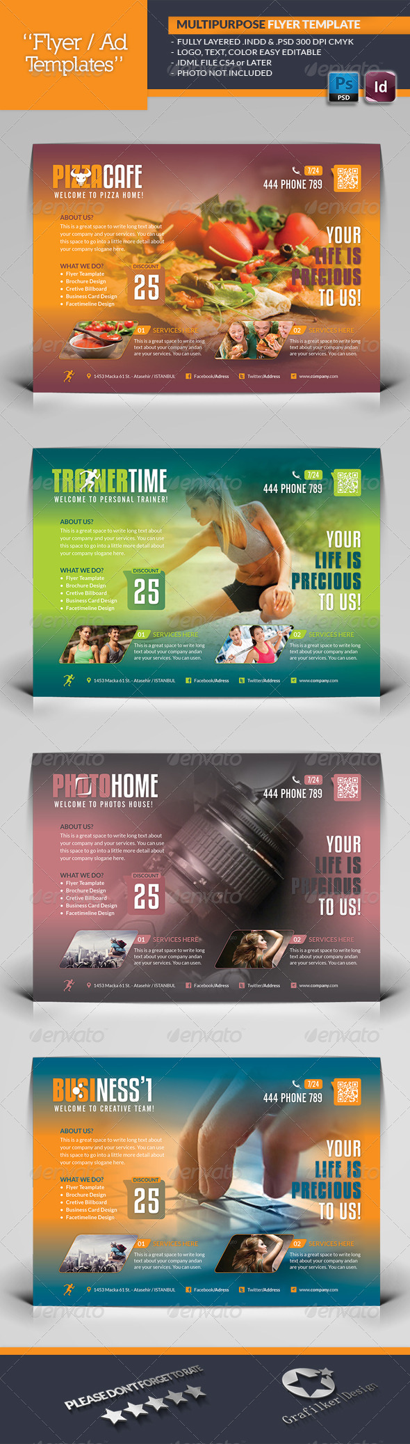 GraphicRiver Multipurpose Flyer Template 5863734