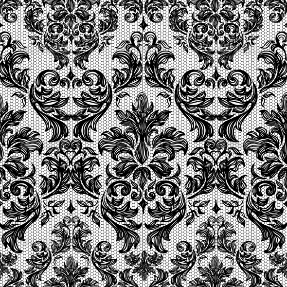 GraphicRiver Baroque Seamless Vintage Lace Background 5863831