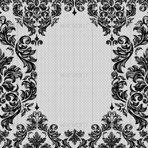 GraphicRiver Baroque Seamless Vintage Lace Background 5863845
