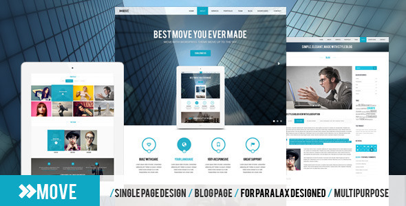 ThemeForest Move Parallax One Page PSD Template 5863885
