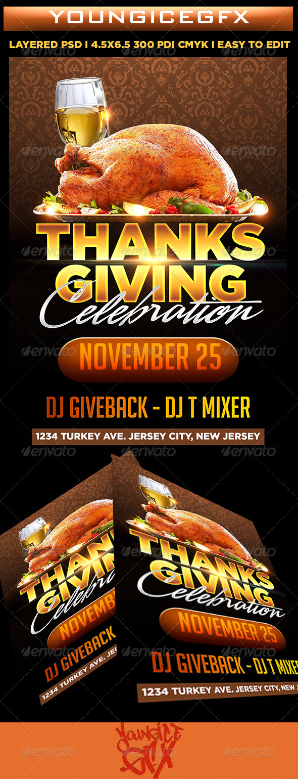 GraphicRiver Thanksgiving Celebration 5863956