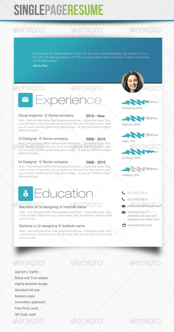 GraphicRiver Simple resume 4 5863985