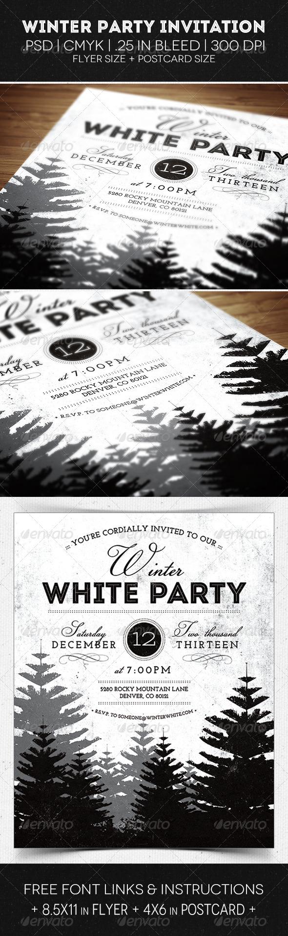 GraphicRiver Winter Party Flyer & Invitation 5864135