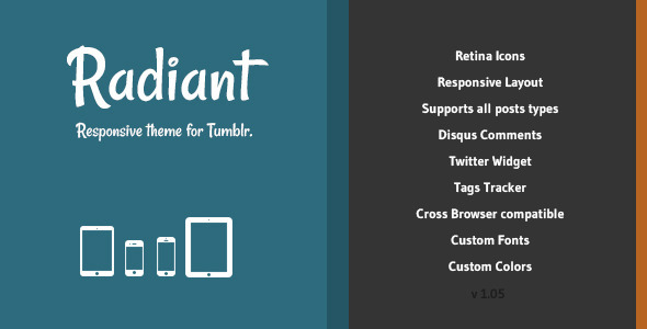 Radiant - Responsive Theme for Tumblr - Blog Tumblr