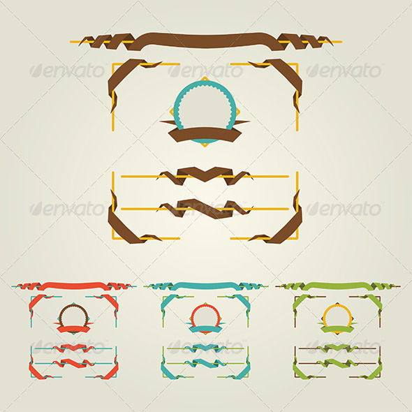 GraphicRiver Flat Page Decorations 5864233