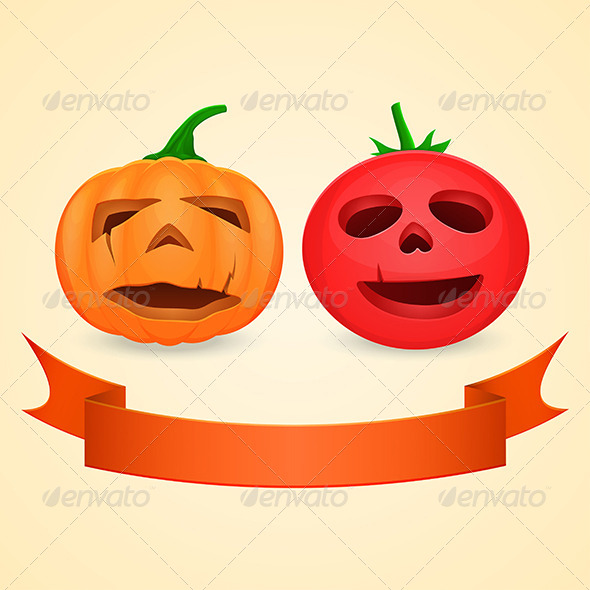 GraphicRiver Halloween Pumpkin and Tomato 5864278