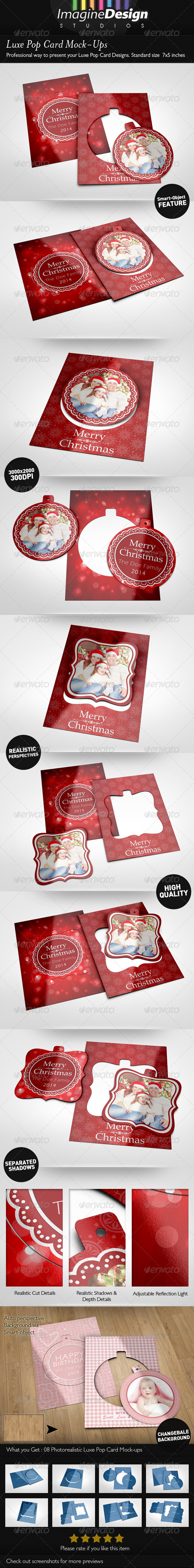GraphicRiver Luxe Pop Card Mock-Ups 5864456