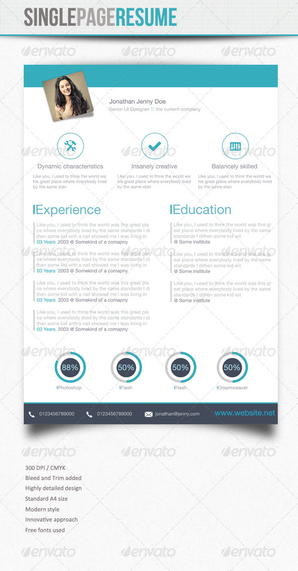 GraphicRiver Simple Resume 5 5864556