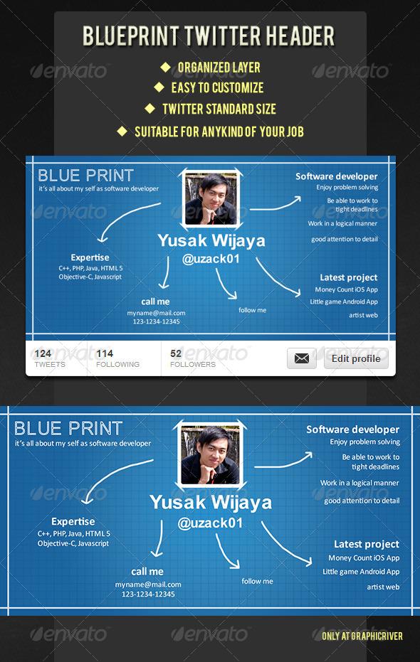 GraphicRiver Blueprint Twitter Header 5842204