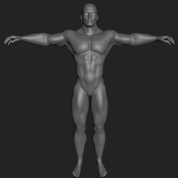 3DOcean HQ Male Body 5866144