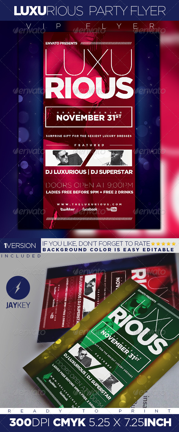 GraphicRiver Luxurious Elegant Party Flyer 5866232