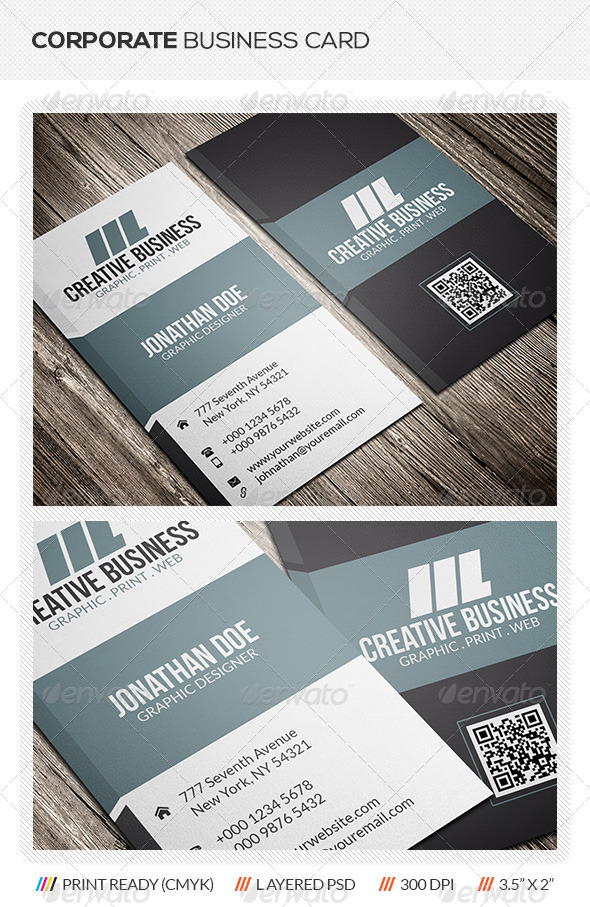 GraphicRiver Corporate Business Card 5866525