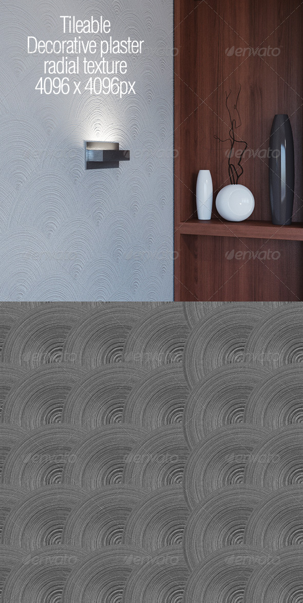 3DOcean Tileable decorative plaster radial texture 5866852