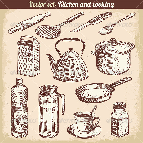 GraphicRiver Kitchen and Cooking Set 5867047