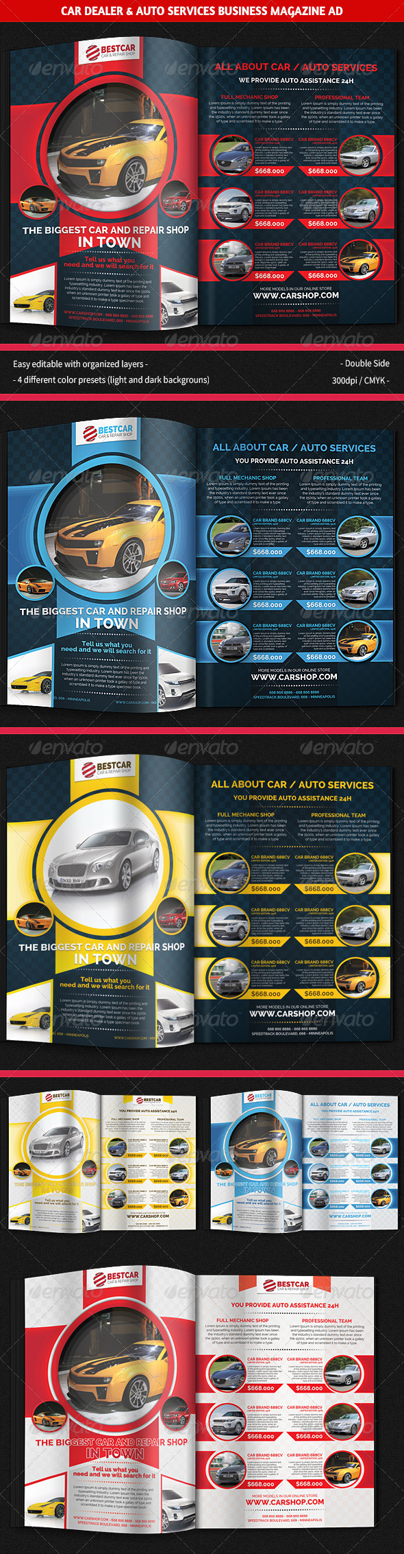 GraphicRiver Car Dealer & Auto Services Business Magazine Ad 5867261