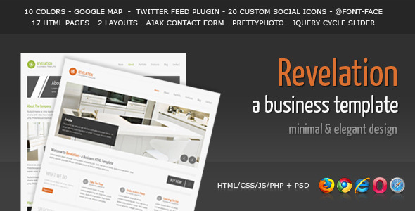 Revelation - Elegant and Minimal Business Template - ThemeForest Item for Sale