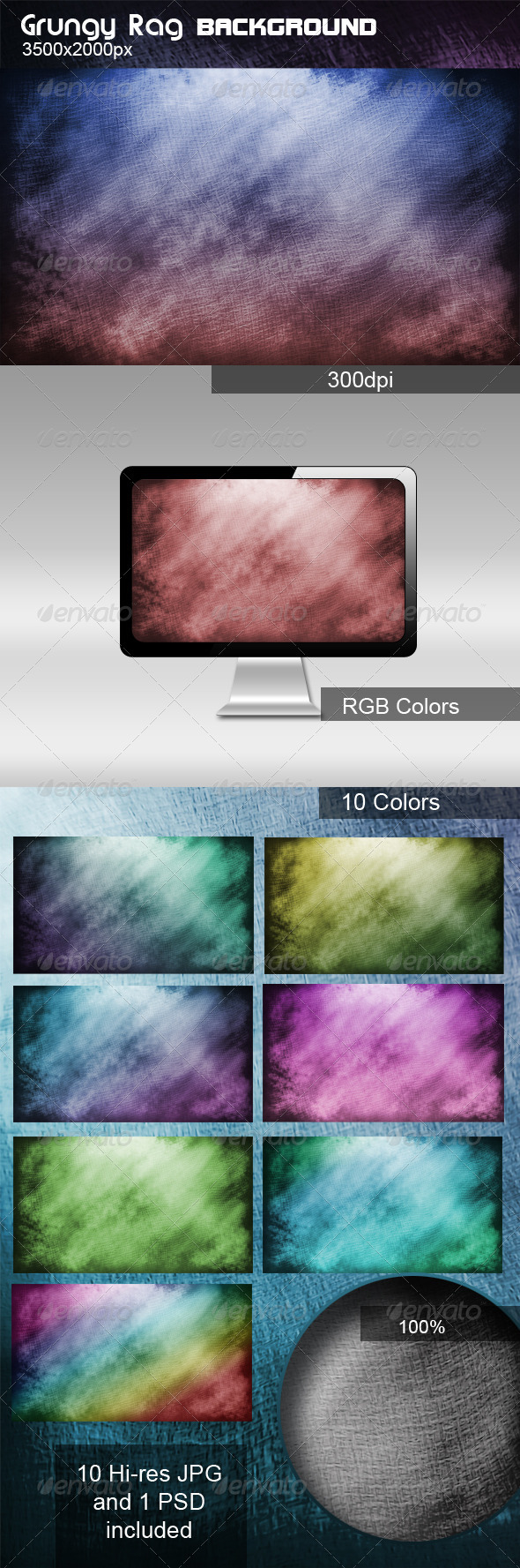 Grungy Rag Background - Urban Backgrounds