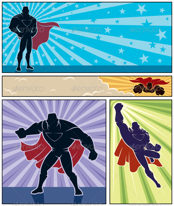 Superhero Banners - People Characters