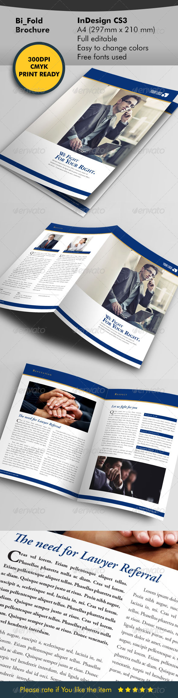 Lawyer Brochure Template - Corporate Brochures
